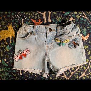 Cat & Jack butterfly Jean shorts size 4/5 XS
